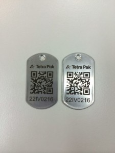 Stainless Steel Dog tags Engraved with custom QR Code